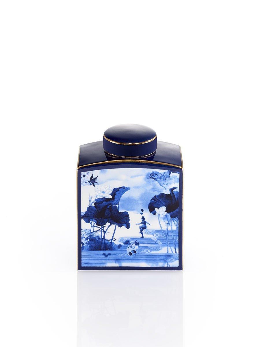 Blue Lotus Jar (Small)