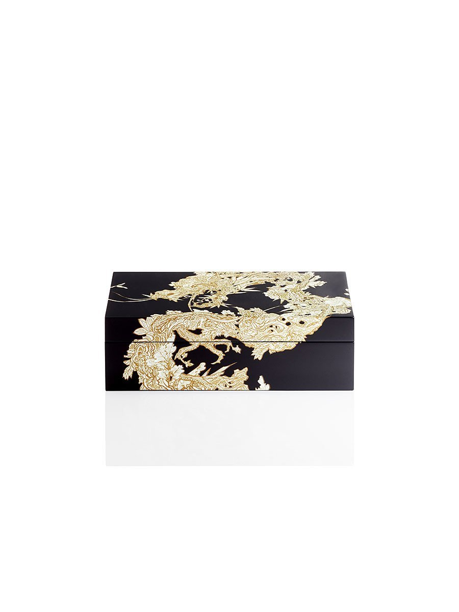 Carved Dragon 7 Days Cufflink Box