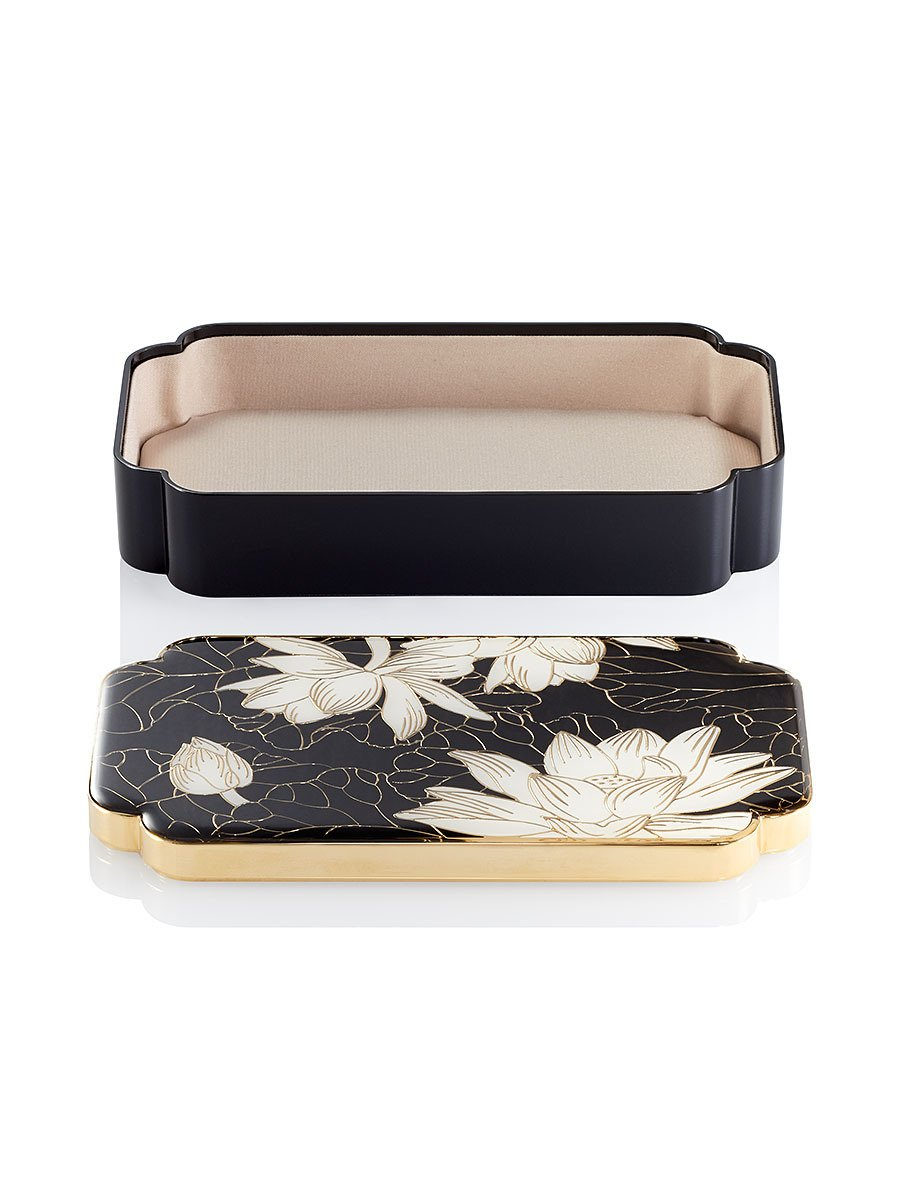 Lotus Enamel Rectangular Box