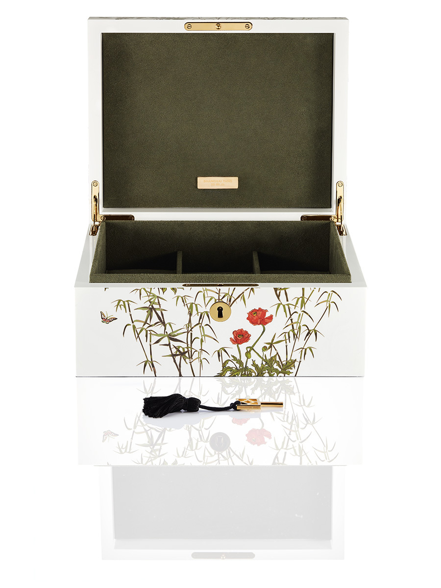 Forbidden Garden Lacquer Jewellery & Watch Box – Medium