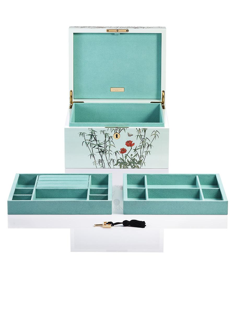 Forbidden Garden Lacquer Jewellery Watch Box Medium