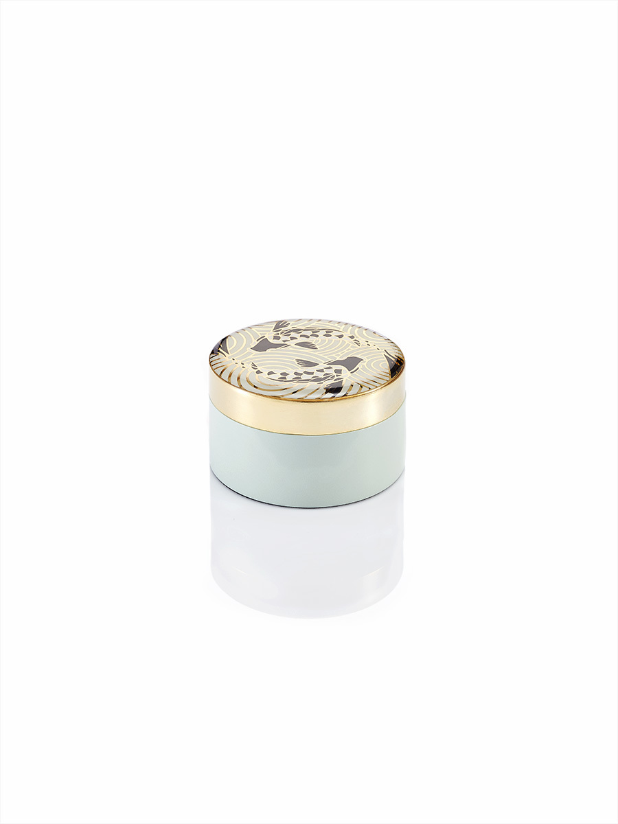 Koi Enamel Round Small Box