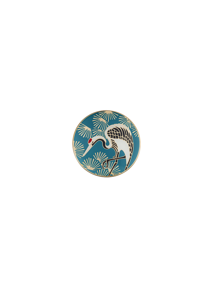 Crane Enamel Round Small Box