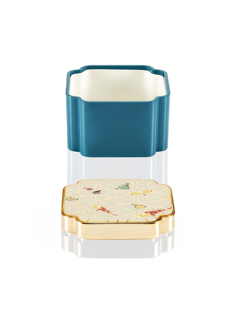 Koi Square Enamel Box