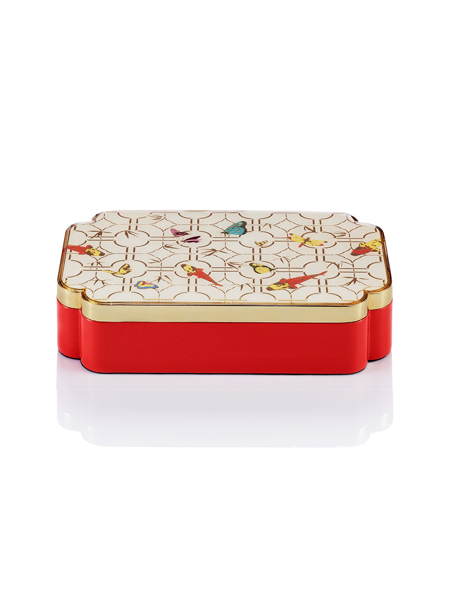 Koi Enamel Rectangular Box
