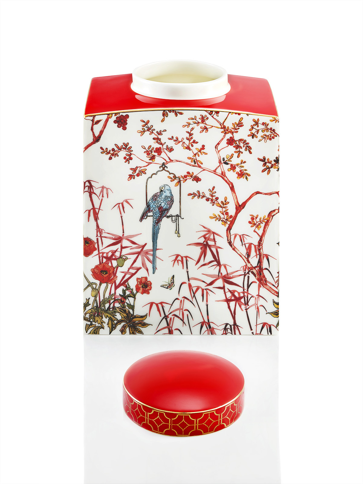 Forbidden Garden Bone China Jar Medium