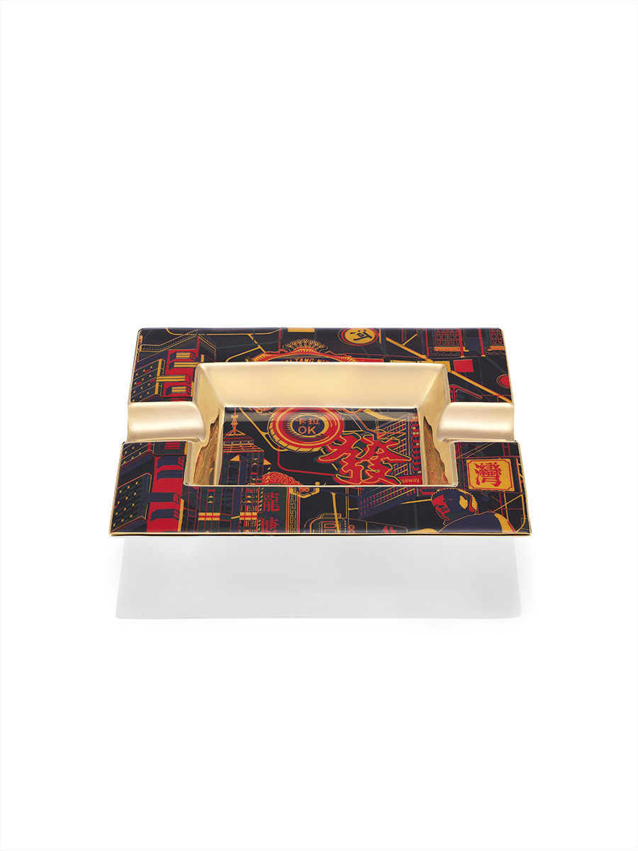 Neon Hong Kong Bone China Ash Tray