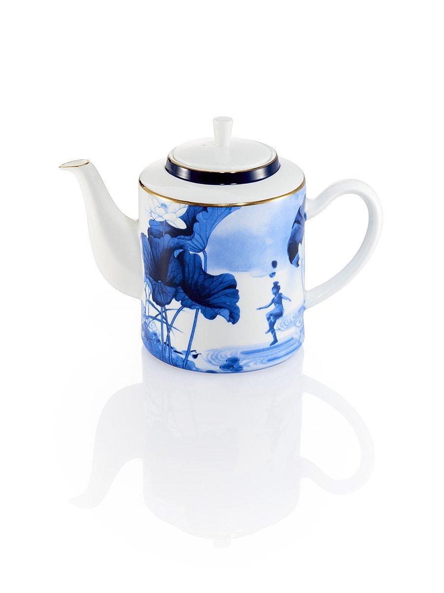 Blue Lotus Tea Pot