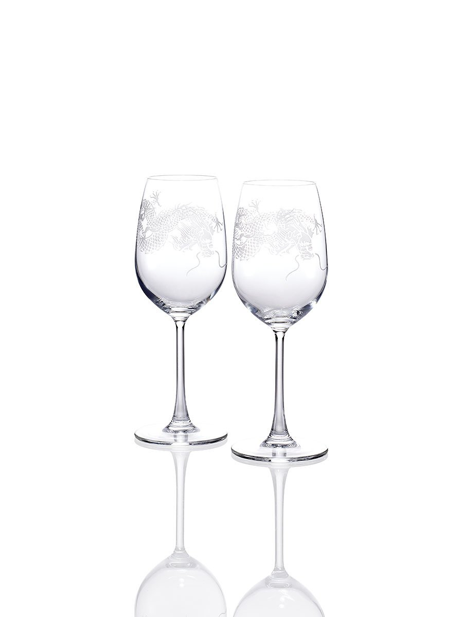 Dragon White Wine Glasses (Set of 2)