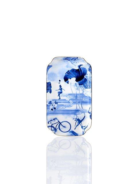 Blue Lotus Bone China Tray