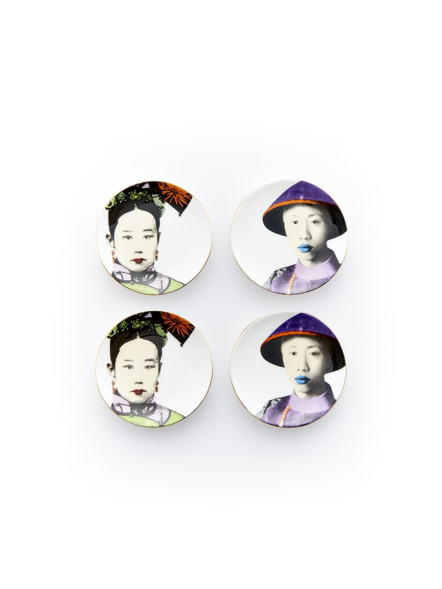 Puyi and Empress Mini Appetizer Plates (Set of 4)