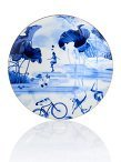 Blue Lotus Decorative Plate