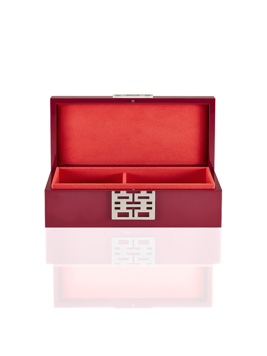 Double Happiness Lacquer Jewellery Box - Medium
