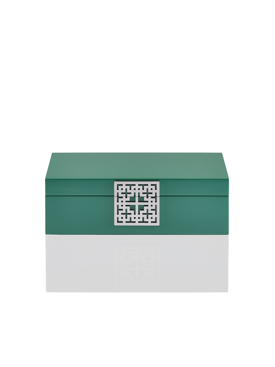 Lattice Lacquer Jewellery Box – Medium