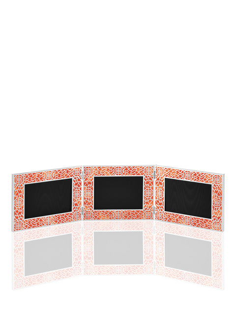Landscape Lattice Triple Photo Frame