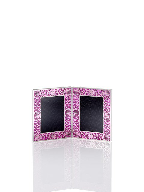 4R Lattice Double Photo Frame