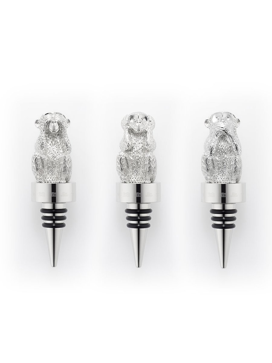 Monkey Wine Stopper Set (Set of 3)