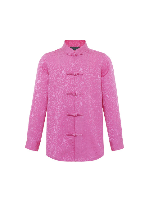 Bird Jacquard Silk Kids Tang Shirt