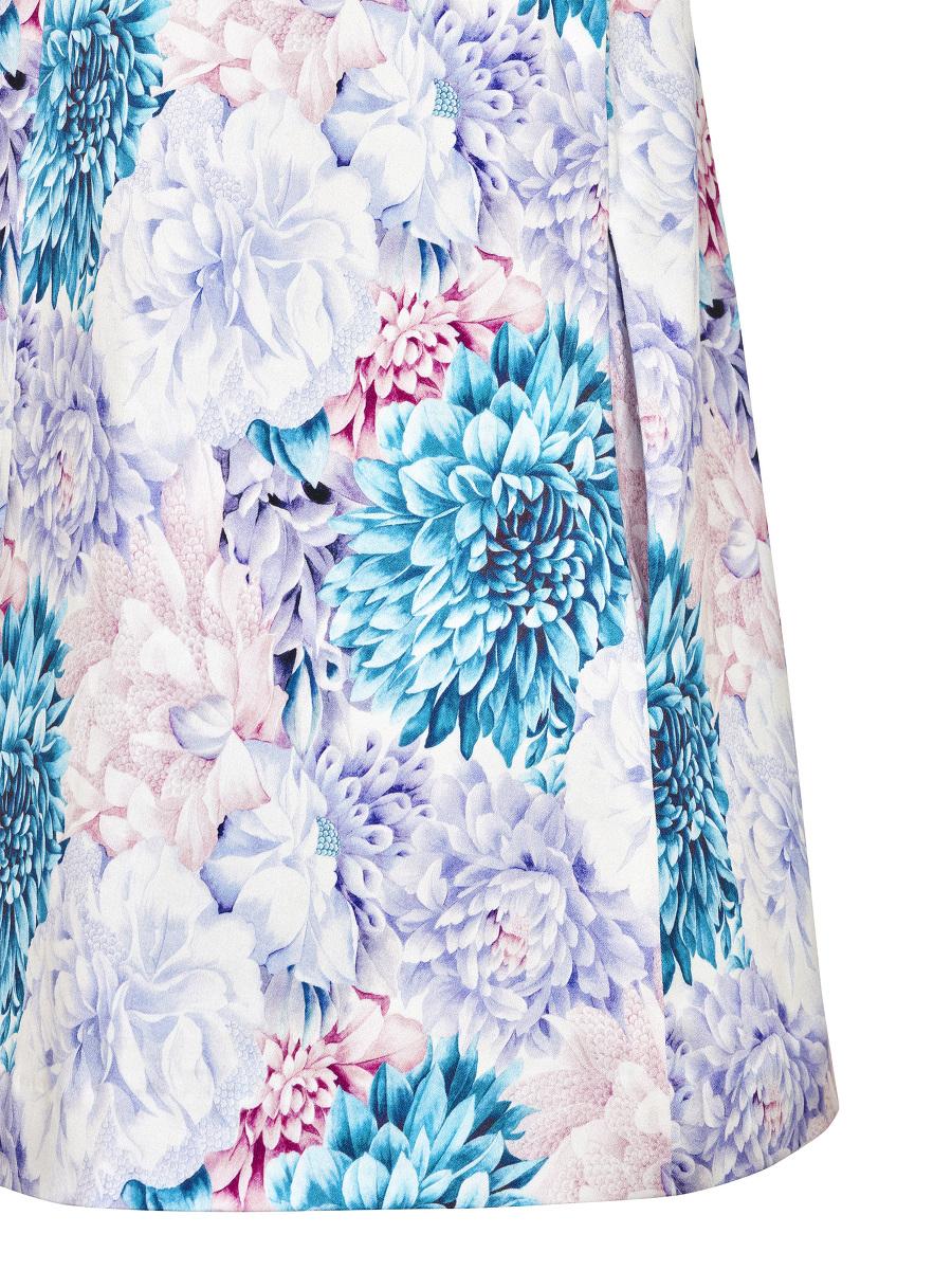 Floral Print Stretch Cotton Kids Dress