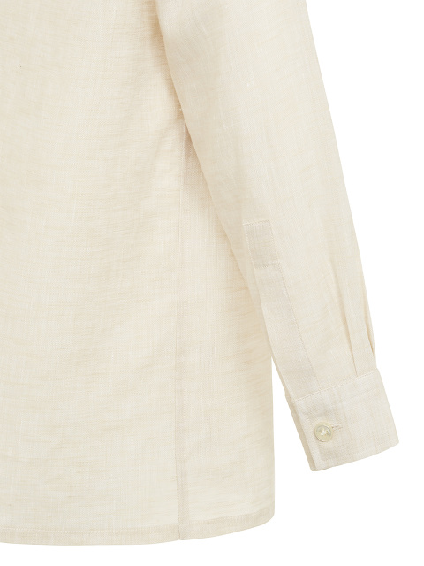 Kids Linen Tang Shirt with Frog Buttons