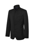 Stand Collar Wool Suit Jacket