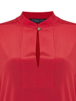 Jewel Button Standing Collar Shirt