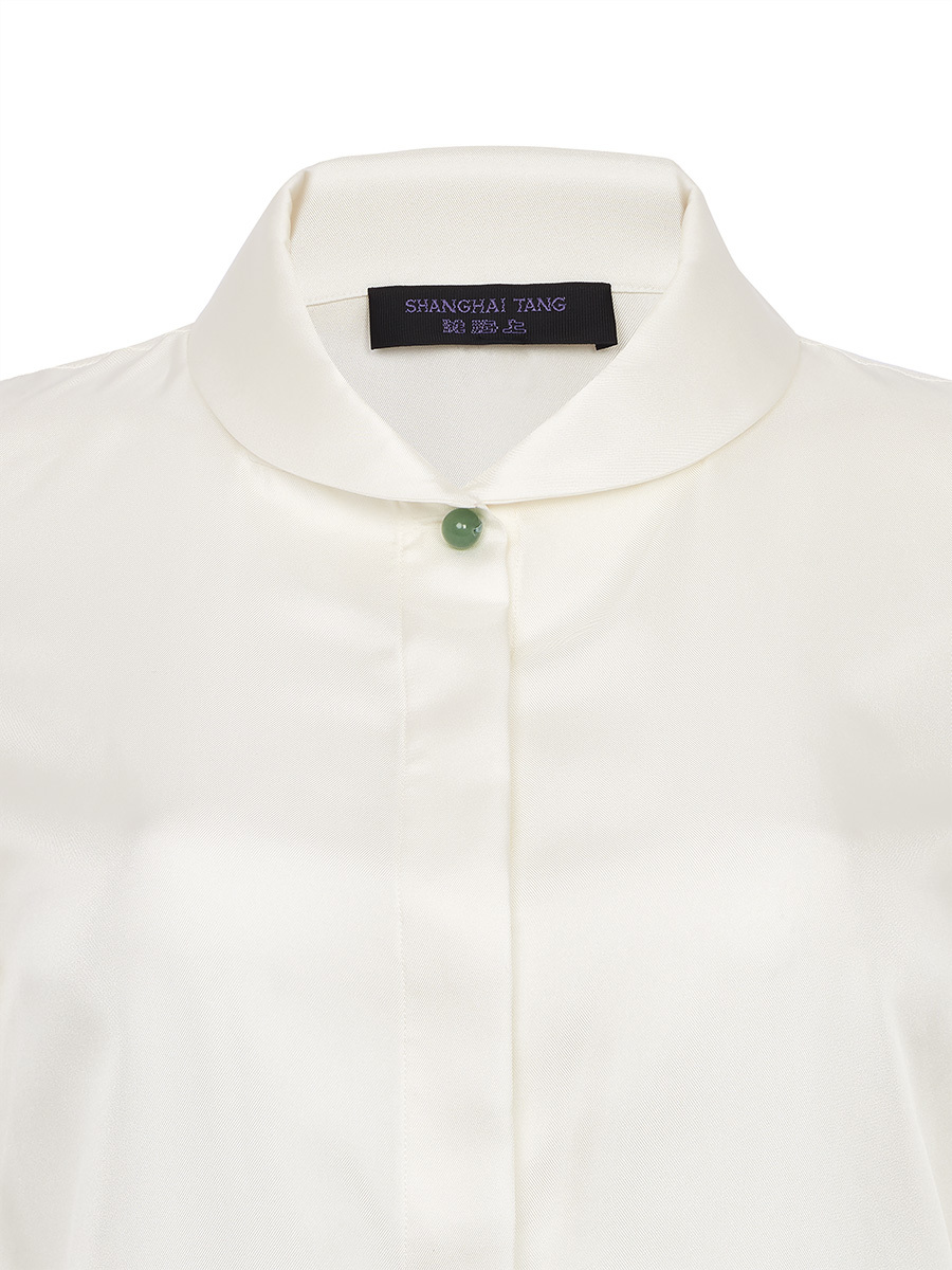 Button Down Shirt With Jade Button