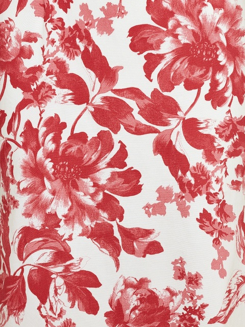 Peony Print Long Qipao with Silk Lining