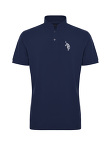 Tiger Embroidery Cotton Pique Polo Shirt