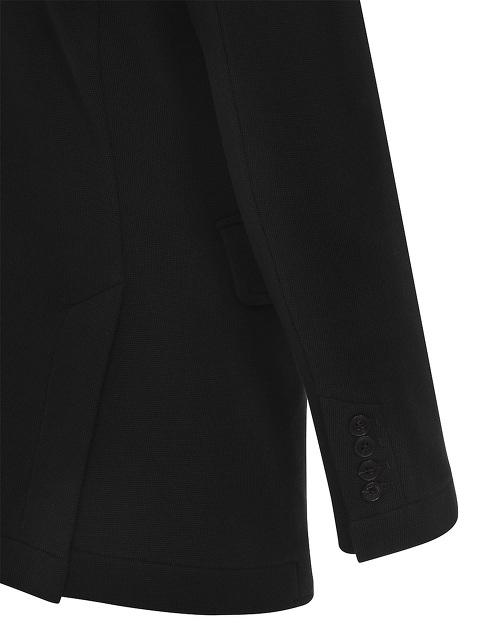 Cotton Blend Jersey Knit Mandarin Collar Jacket