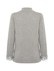Cashmere Blend Cardigan with Tiger Print Silk Lining