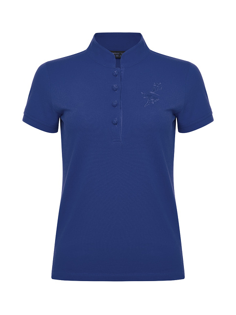 Tonal Bird Embroidery Slim Fit Polo Shirt