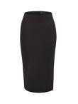 Silk Cotton Jersey Knit Pencil Skirt