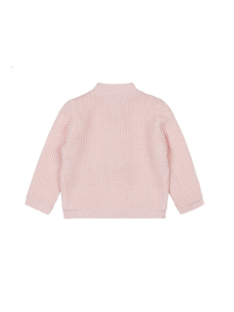 Cotton Knit Baby Cardigan with Silk Lining