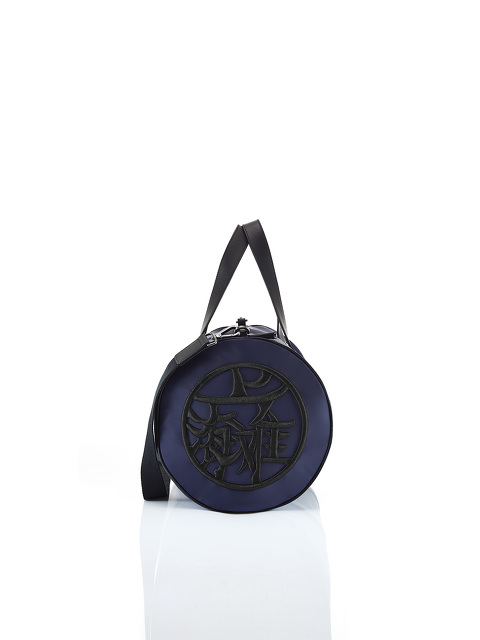 Motif Embroidery Gym Duffle Bag with Waterproof Zip