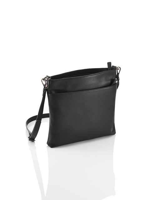 Flat Leather Crossbody