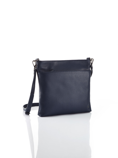 Flat Leather Crossbody