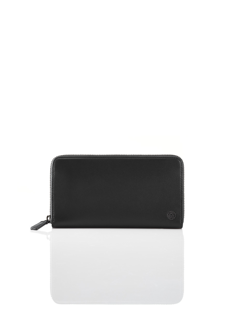 Leather Ziparound Wallet