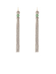 Gemstone Tassel Long Earrings