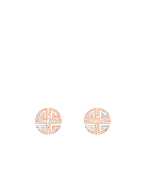 Shou Crystal Pavé Stud Earrings
