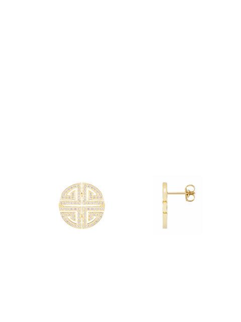 Shou Crystal Pavé Stud Earrings