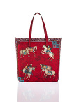 Mongolian Horsemen Print Nylon Shopper Bag
