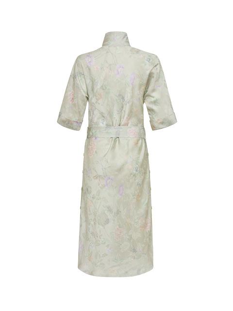 Yuni Ahn for Shanghai Tang Floral Jacquard Print Split Qipao Collar Dress