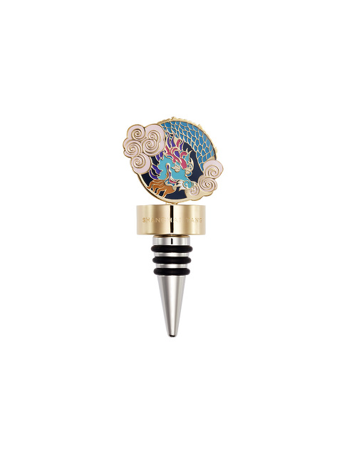 Vivid Dragon Enamel Wine Stopper