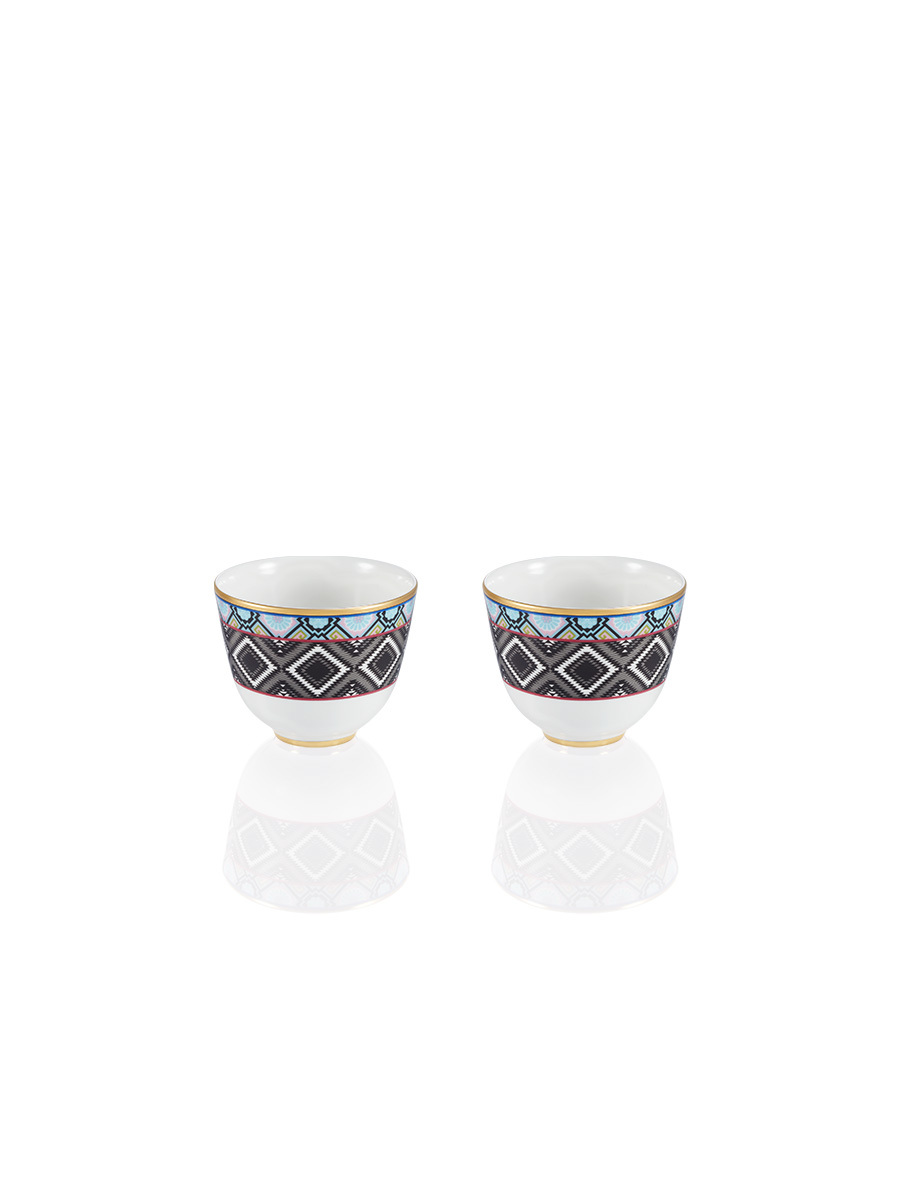 Ikat Chinese Cup Set Of 2