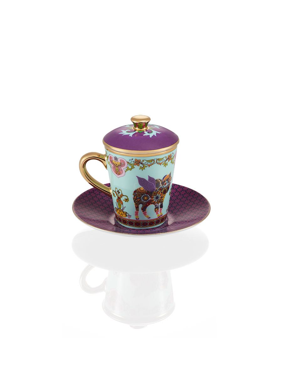 Pig Fine Bone China Espresso Cup & Saucer Set