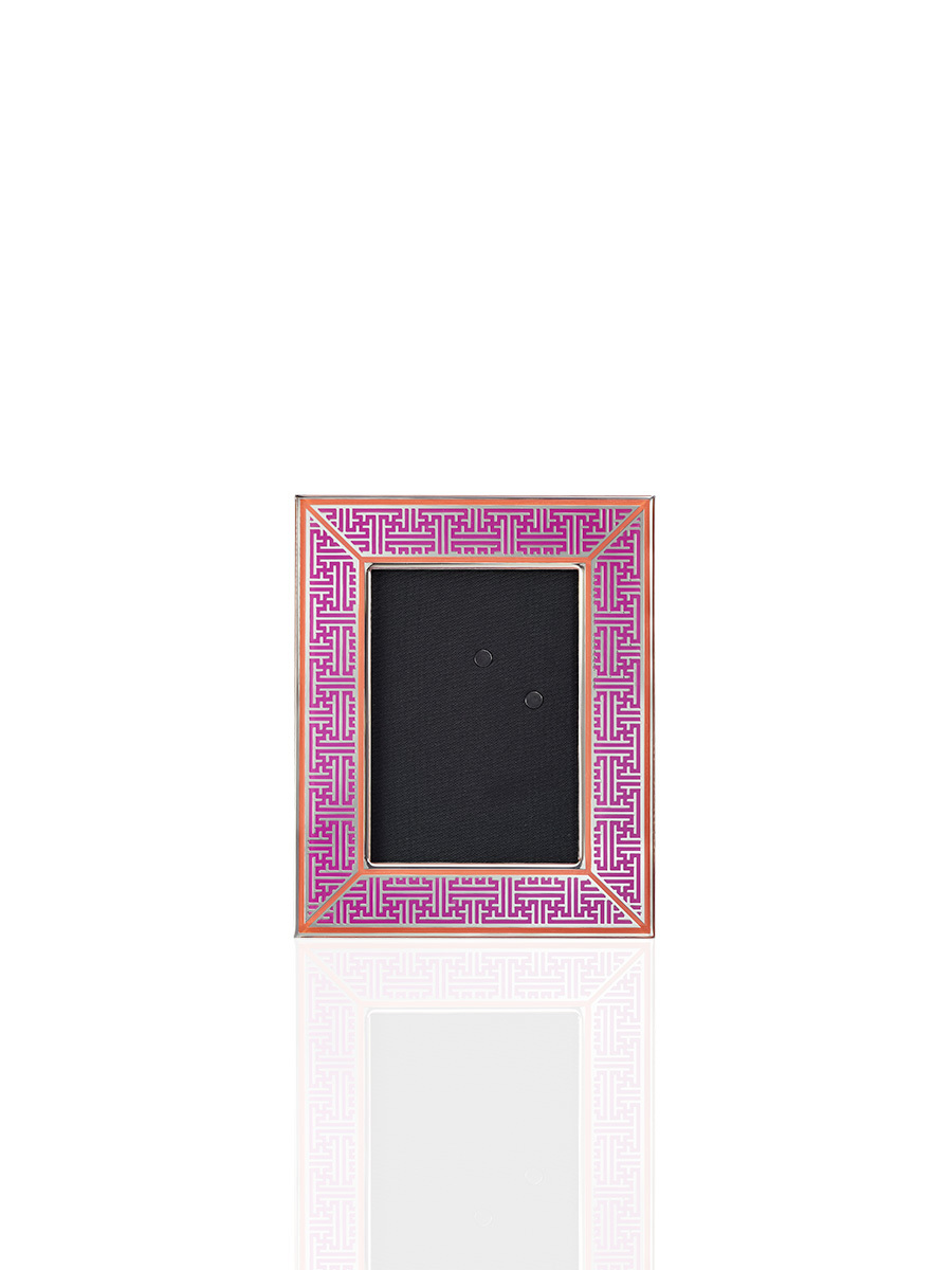 Lattice Enamel Photo Frame 3R