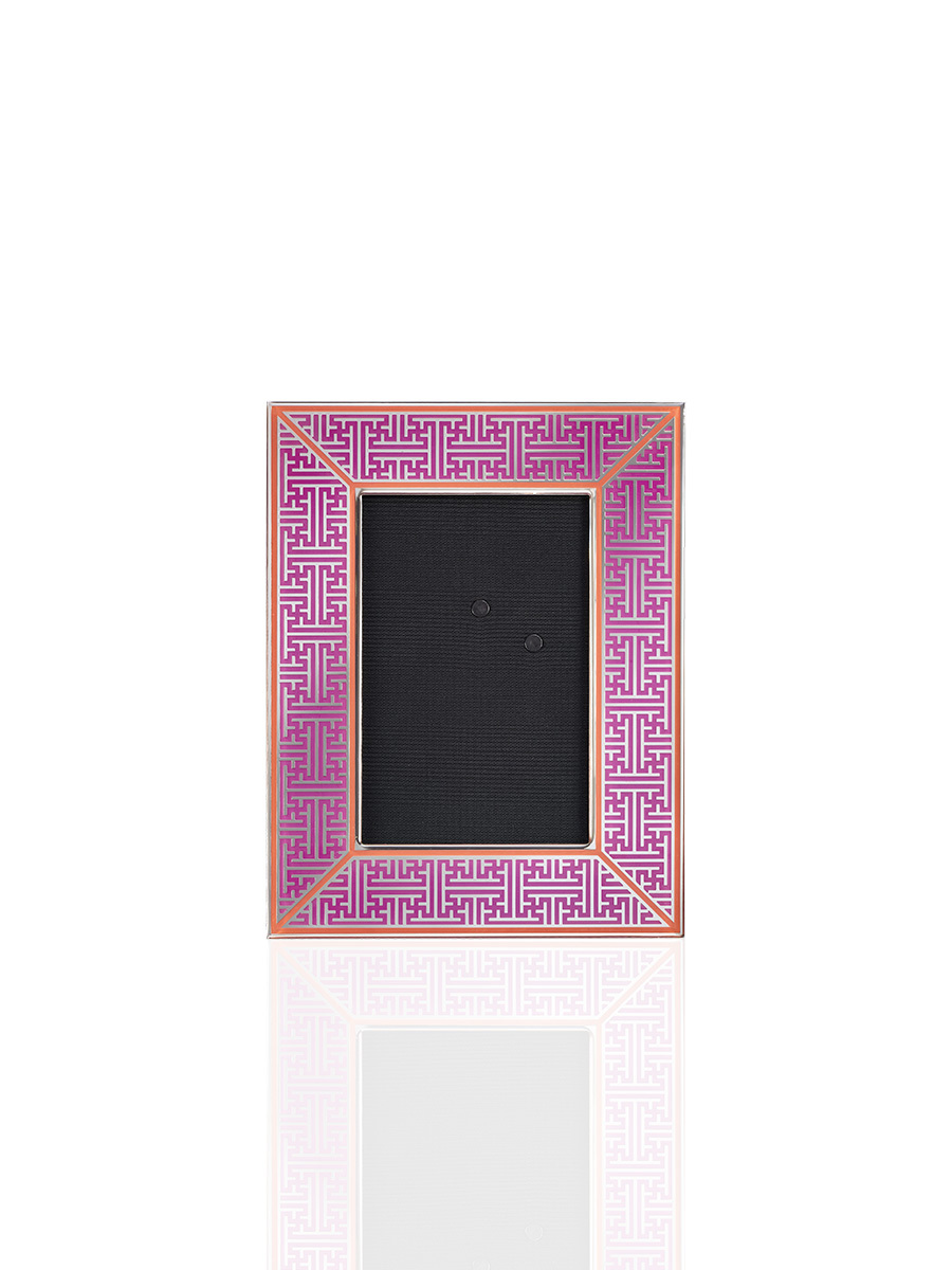 Lattice Enamel Photo Frame 4R