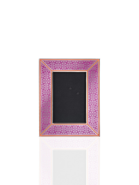 4R Lattice Enamel Photo Frame