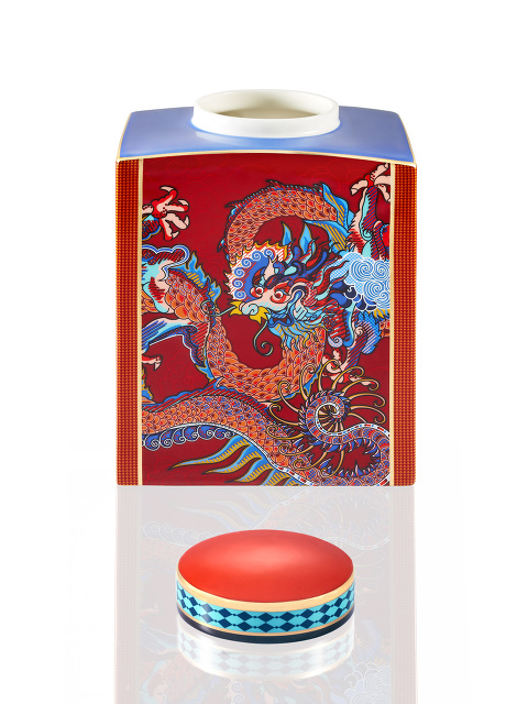 Vivid Dragon Fine Bone China Jar – Medium